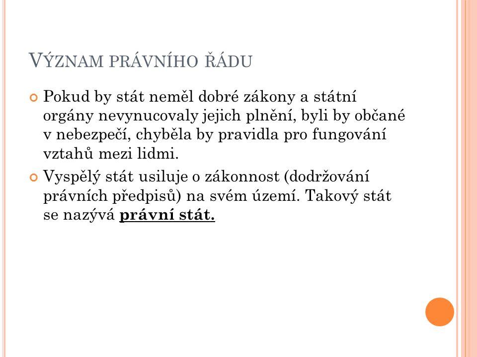P RÁVNÍ OCHRANA OBČANŮ Každý občan by měl znát a dodržovat základní právní předpisy.