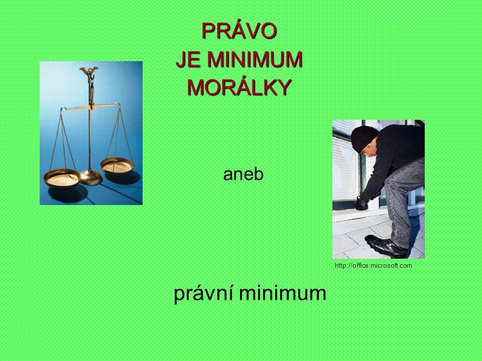 právní minimum aneb PRÁVO JE MINIMUM MORÁLKY http://office.microsoft.com