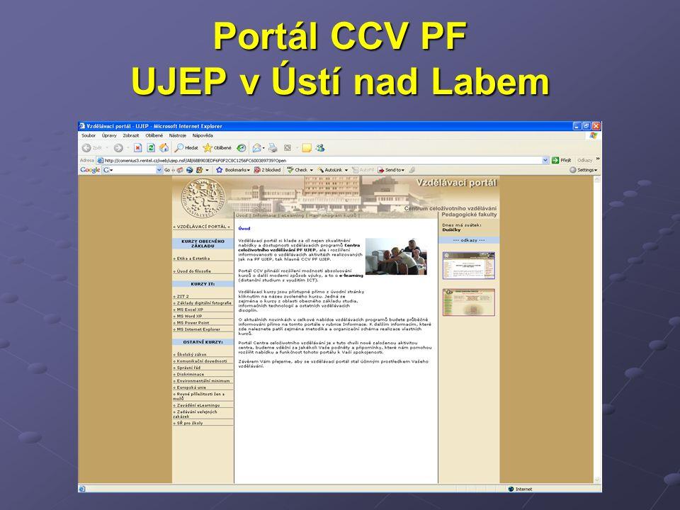 Portál CCV PF UJEP v Ústí nad Labem