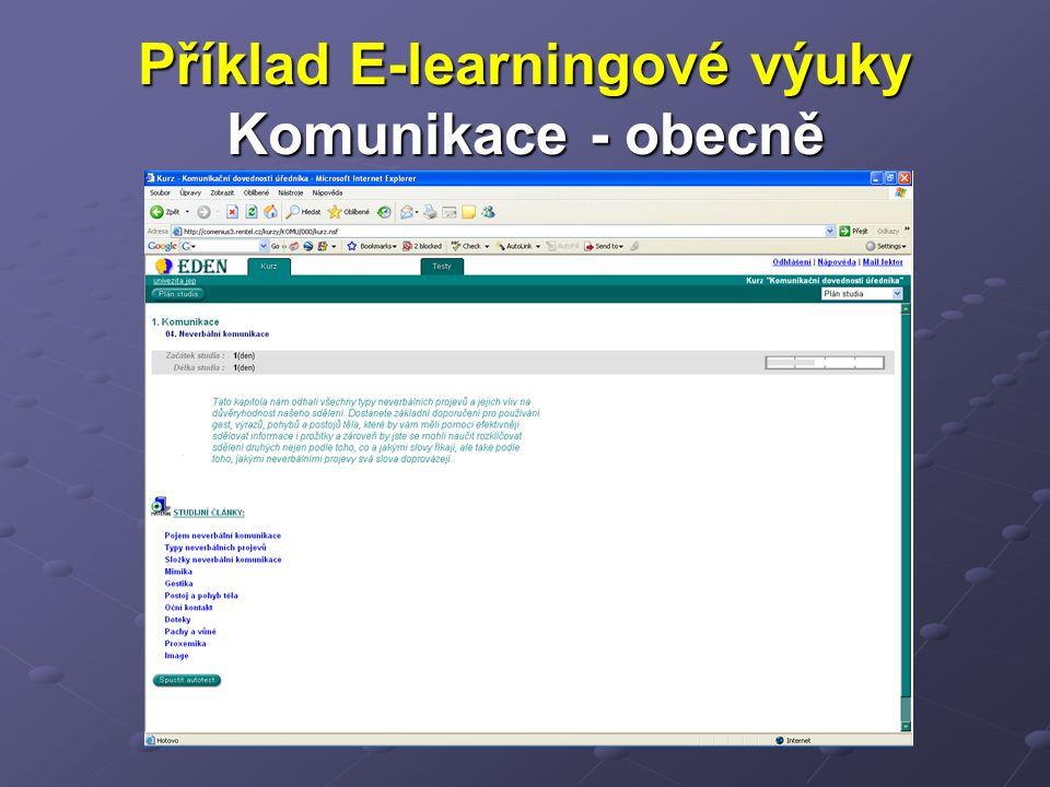 Příklad E-learningové výuky Komunikace - obecně