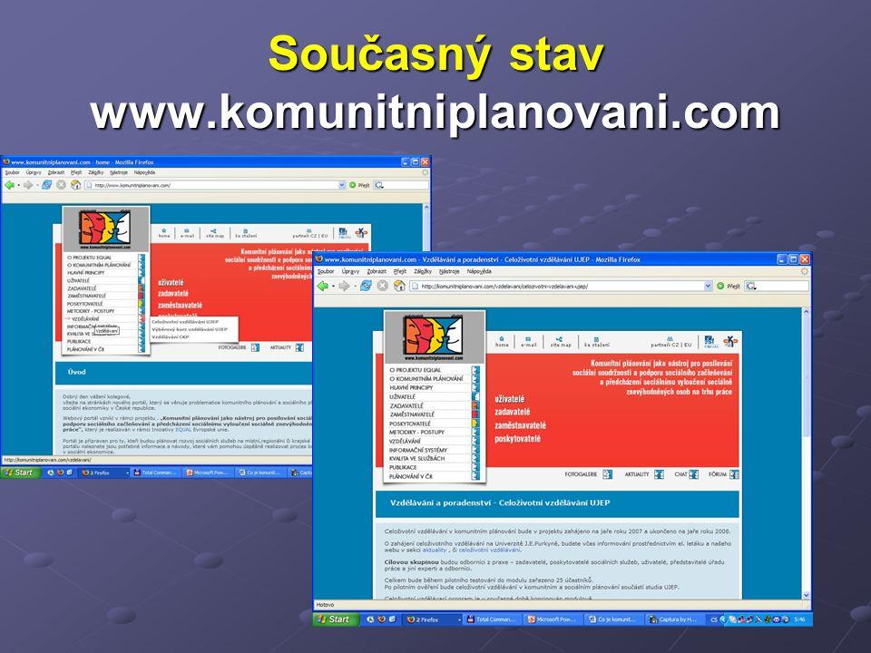 Současný stav www.komunitniplanovani.com