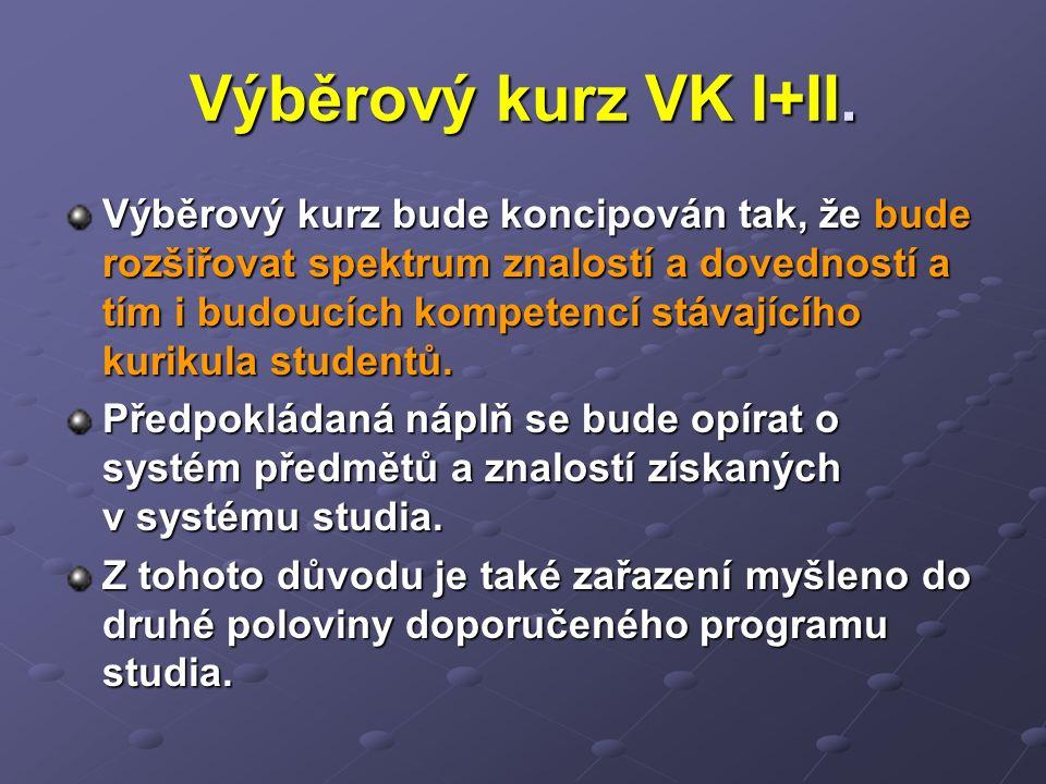Výběrový kurz VK I+II.
