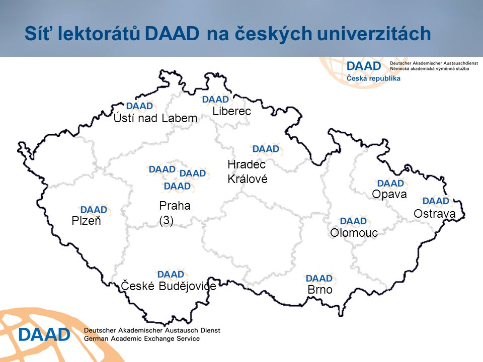 Jazykový test onDaF (Nj) a onSet (Aj) Doklad o jazykové znalosti němčiny/ angličtiny Dostačující pro účel žádosti o stipendium DAAD Absolvování testu pro uchazeče o stipendia DAAD je bezplatné Testovací centra: Praha, Brno, Hradec Králové aj.