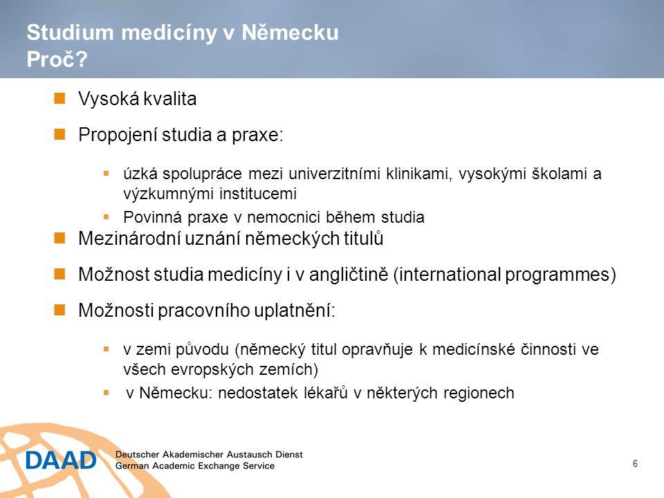 Studium medicíny v Německu Proč.