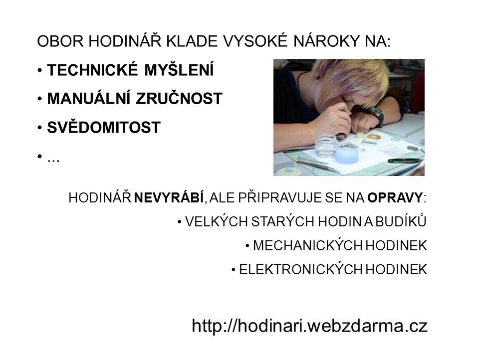 BUDOUCNOST HODINÁŘŮ JAKO LUDĚK SERYN V MOHELNICI? http://hodinari.webzdarma.cz
