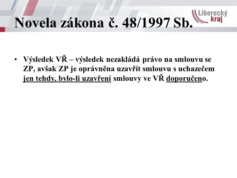 Novela zákona č. 48/1997 Sb.