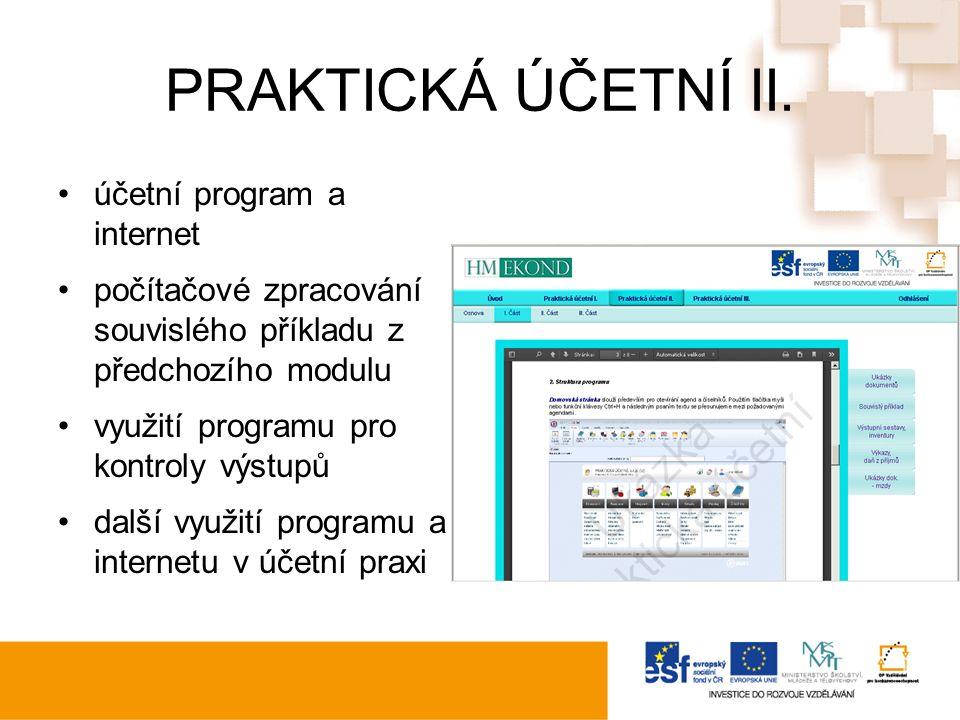 PRAKTICKÁ ÚČETNÍ II.