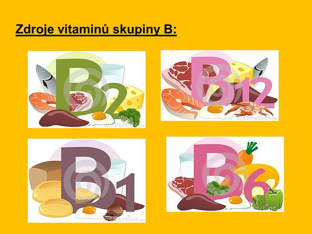Zdroje vitaminů skupiny B: