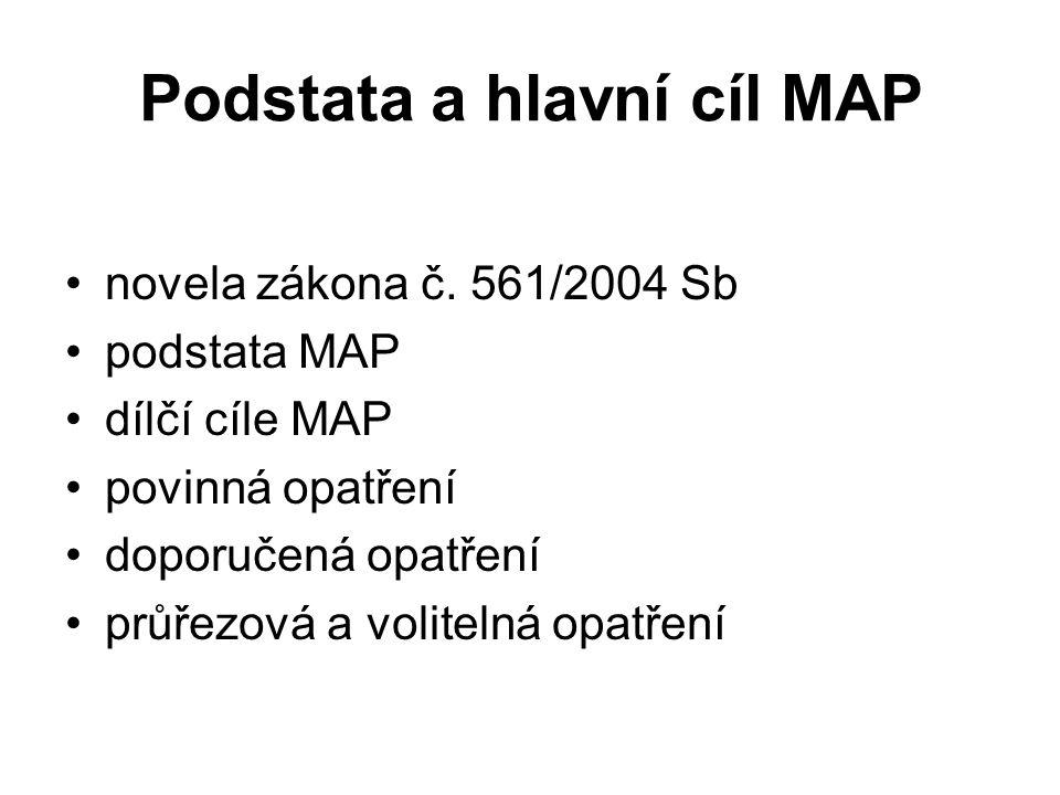Podstata a hlavní cíl MAP novela zákona č.