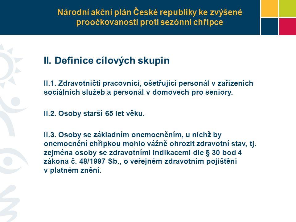 II. Definice cílových skupin II.1.