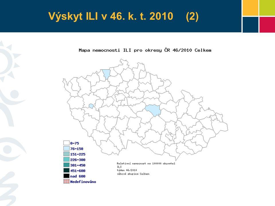 Výskyt ILI v 46. k. t. 2010 (2)