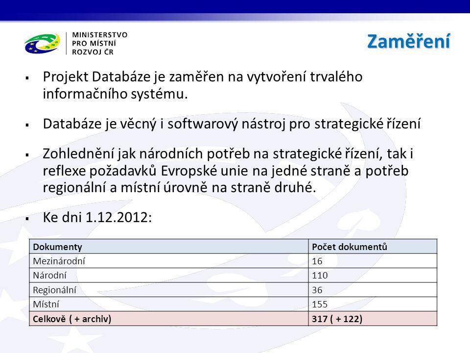  Projekt Databáze je zaměřen na vytvoření trvalého informačního systému.