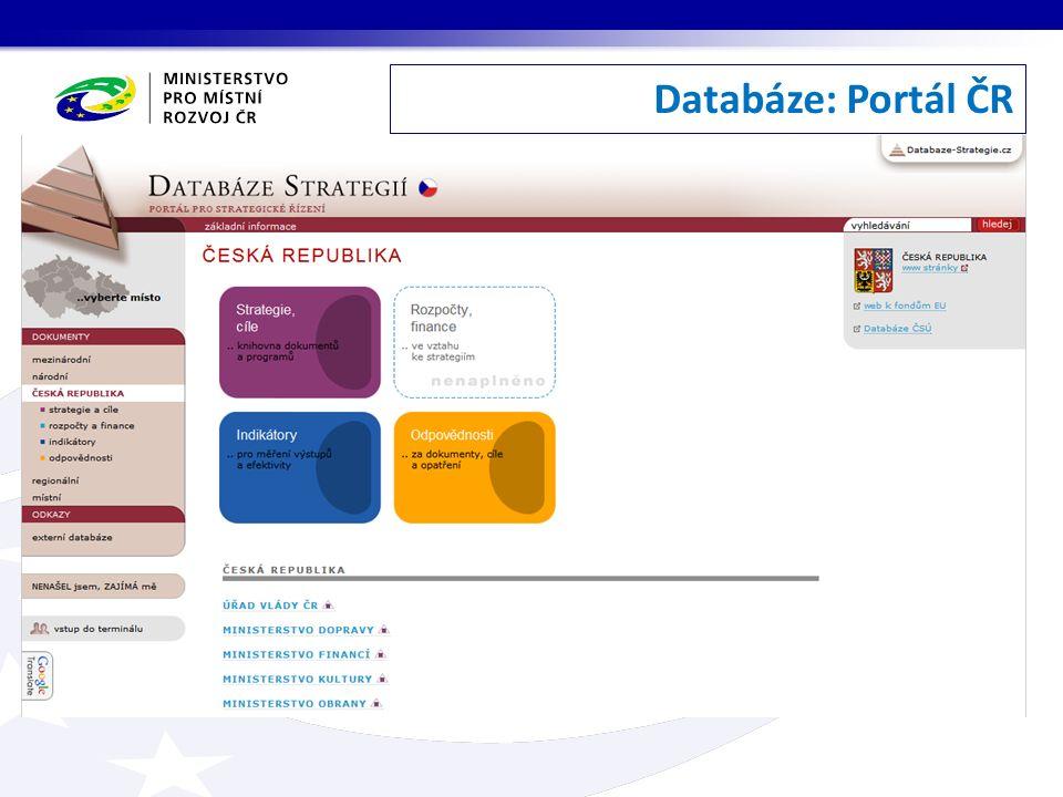 Databáze: Portál ČR