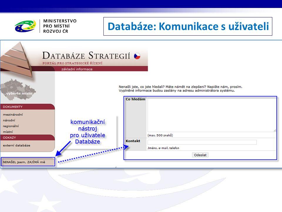 Databáze: Komunikace s uživateli