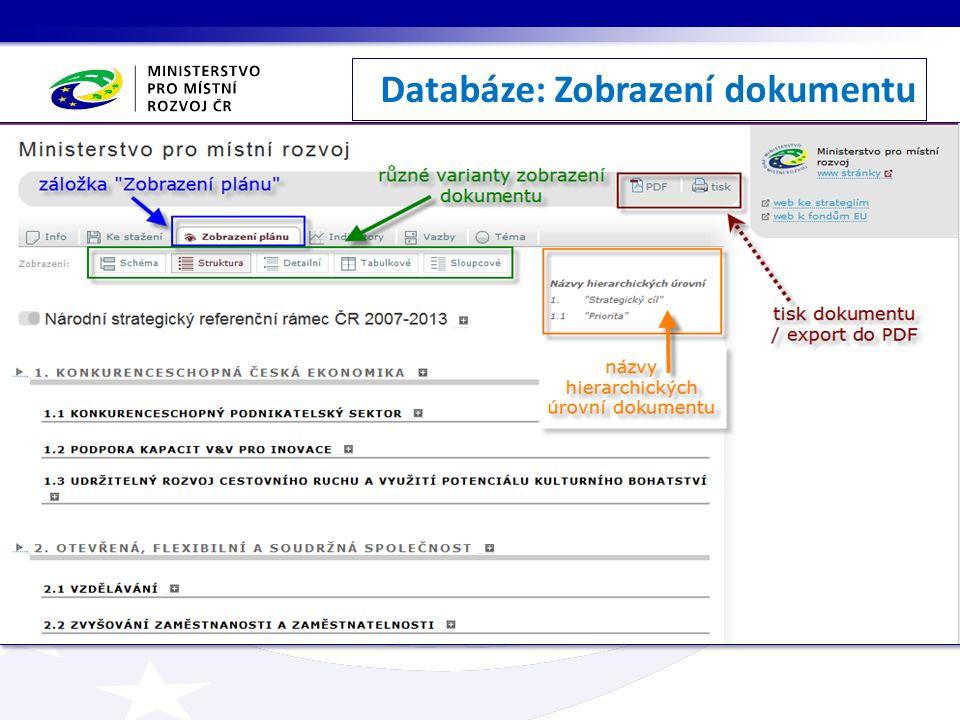Databáze: Zobrazení dokumentu