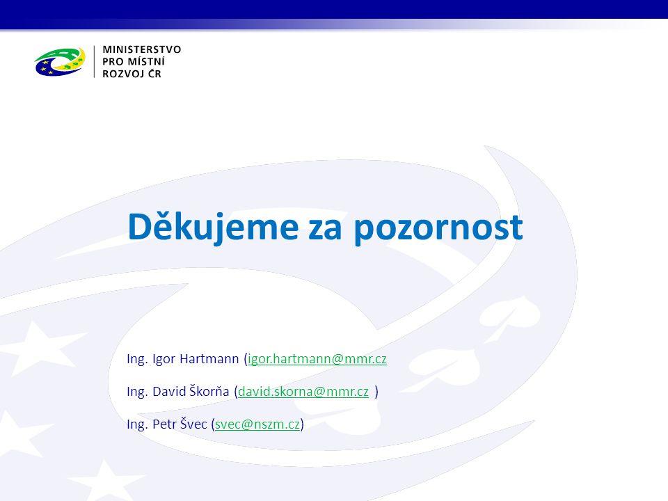 Děkujeme za pozornost Ing. Igor Hartmann (igor.hartmann@mmr.czigor.hartmann@mmr.cz Ing.