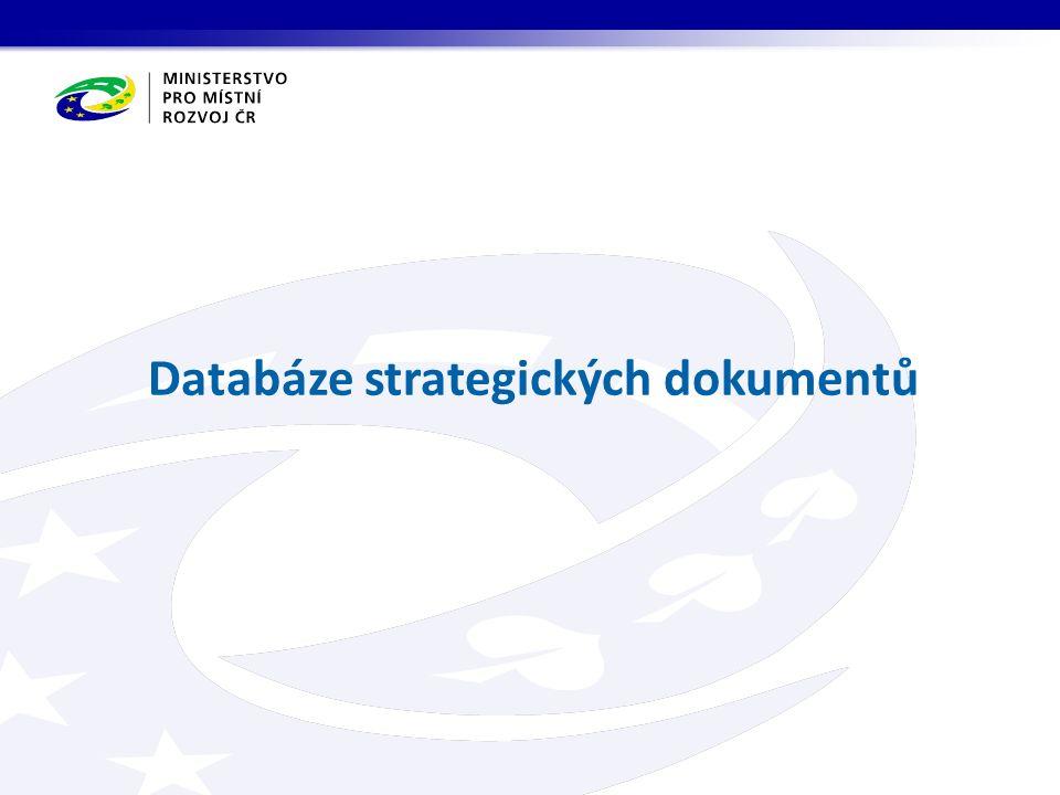 Databáze strategických dokumentů