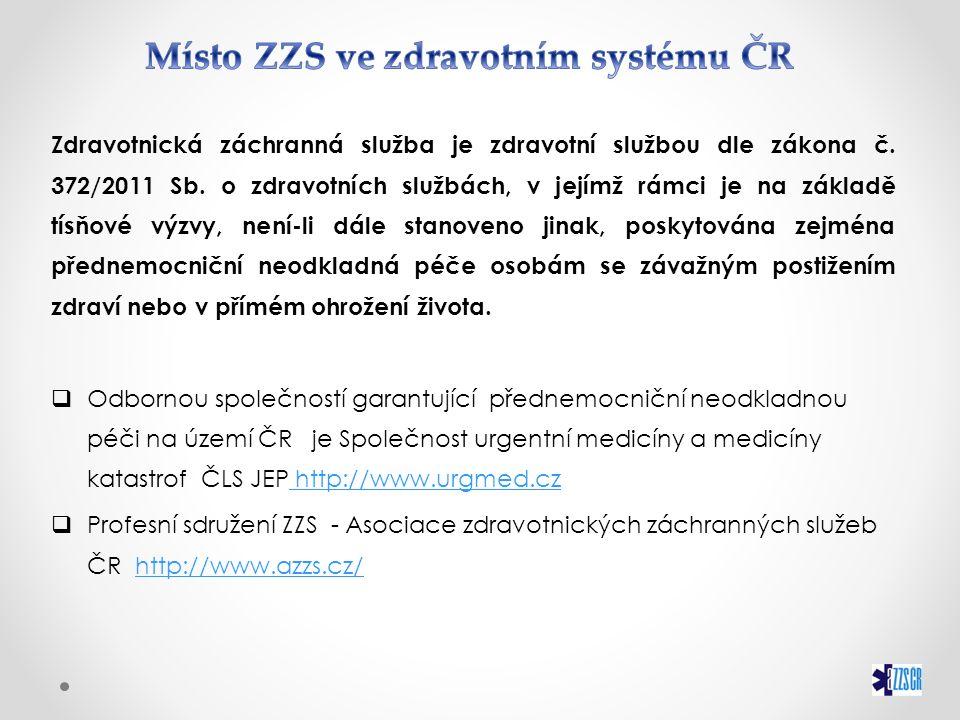  Zákon č.374/2011 Sb. O ZDRAVOTNICKÉ ZÁCHRANNÉ SLUŽBĚ  Zákon č.