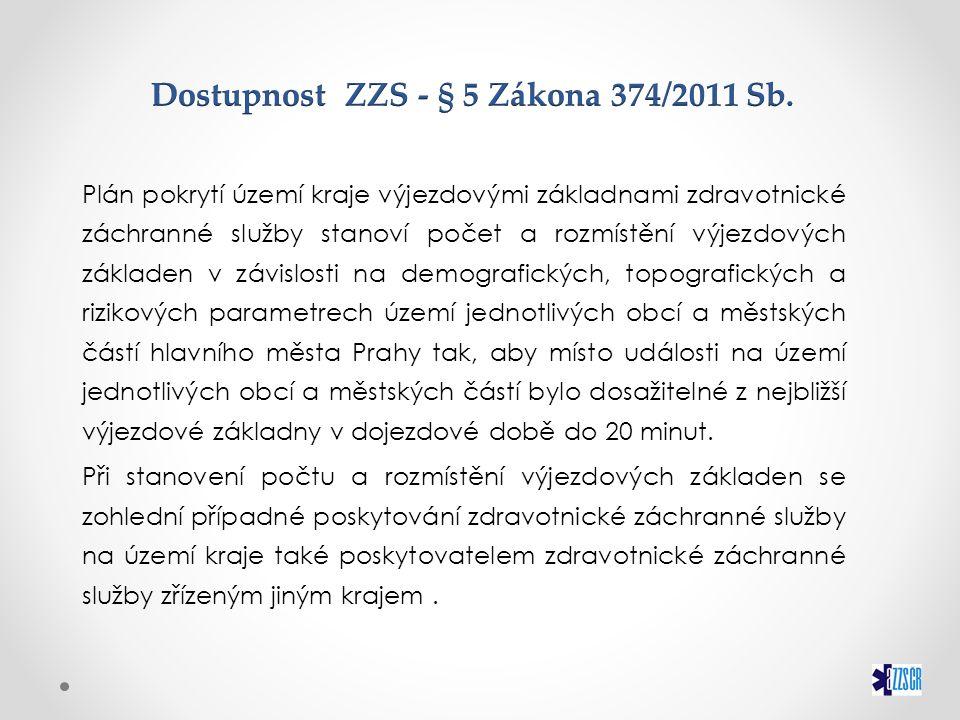Rozmístění ZZS na území ČR