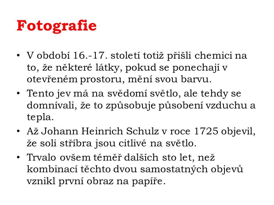 Fotografie V období 16.-17.