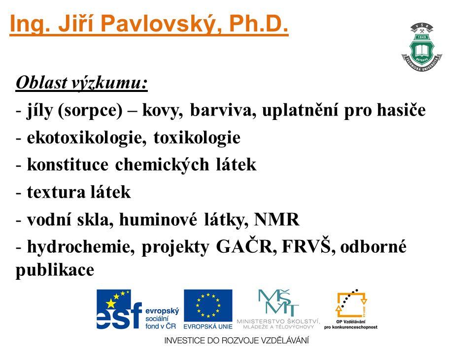 Ing.Jiří Pavlovský, Ph.D.