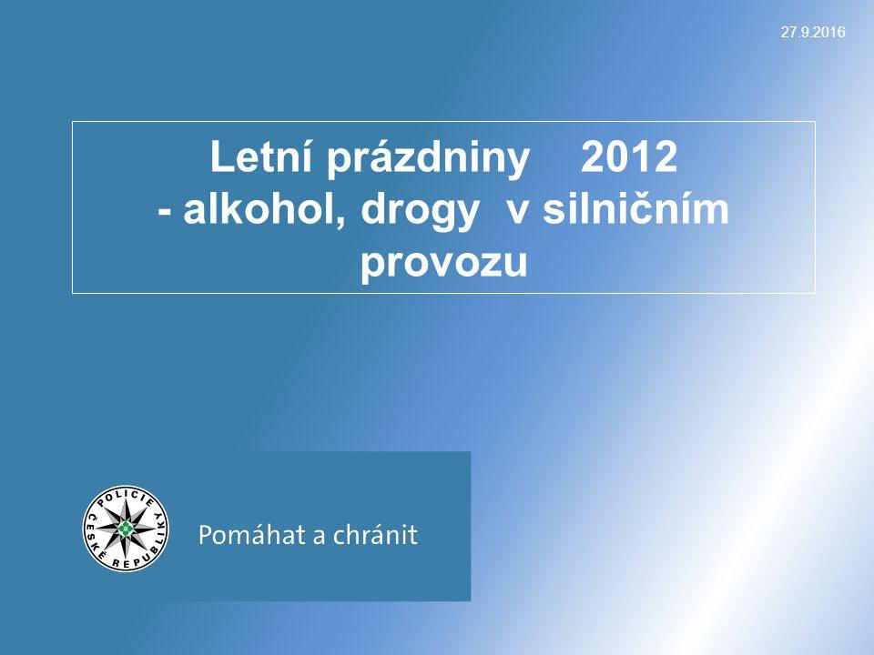27.9.2016 Letní prázdniny 2012 - alkohol, drogy v silničním provozu