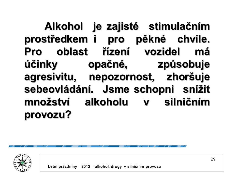 Alkohol je zajisté stimulačním prostředkem i pro pěkné chvíle.