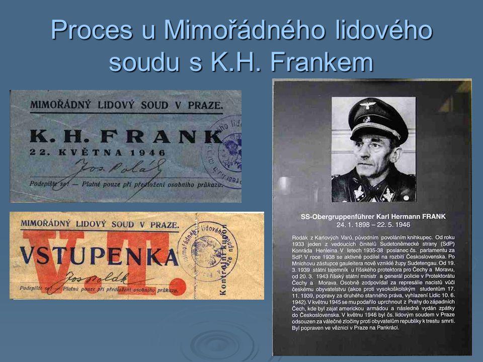 Proces u Mimořádného lidového soudu s K.H. Frankem