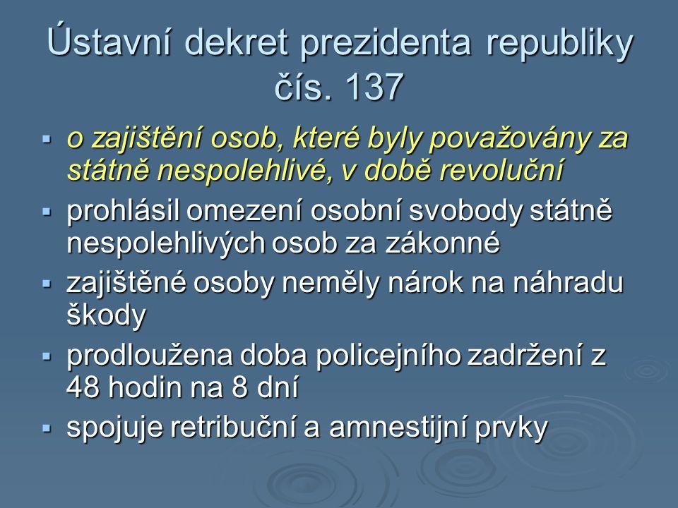 Ústavní dekret prezidenta republiky čís.