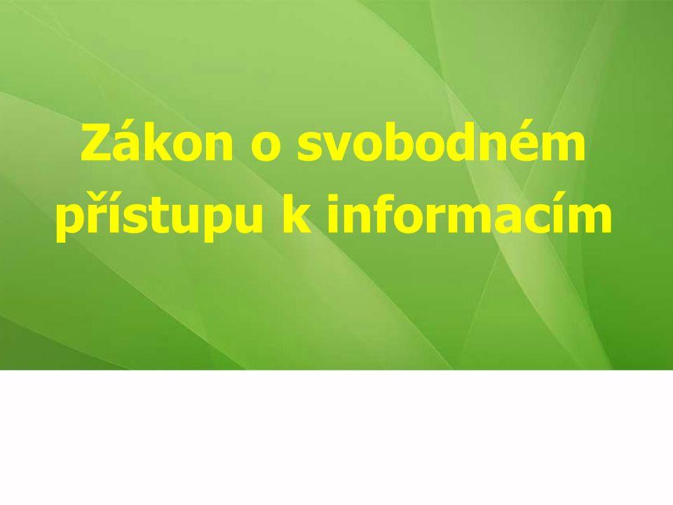 Co zákon neřeší postup při poskytování informací povinnými subjekty, který je upraven zvláštními předpisy  např.