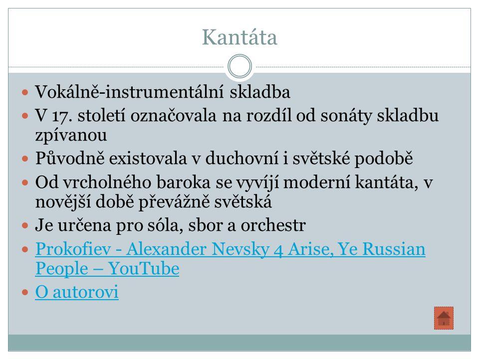 Kantáta Vokálně-instrumentální skladba V 17.