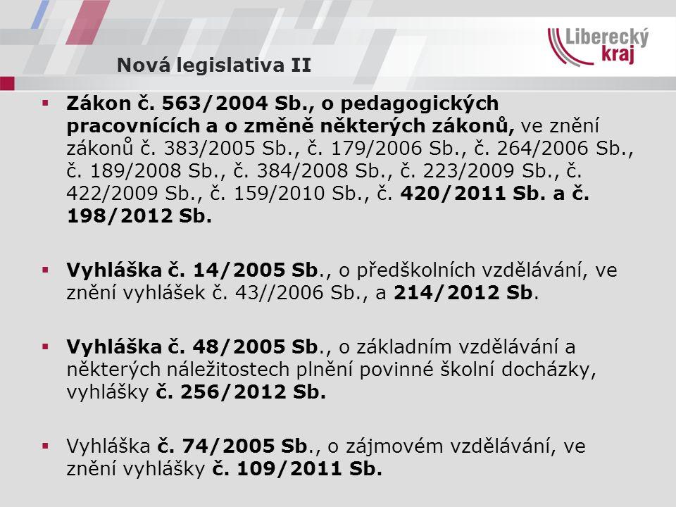 Nová legislativa II  Zákon č.