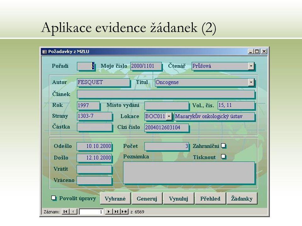 Aplikace evidence žádanek (2)
