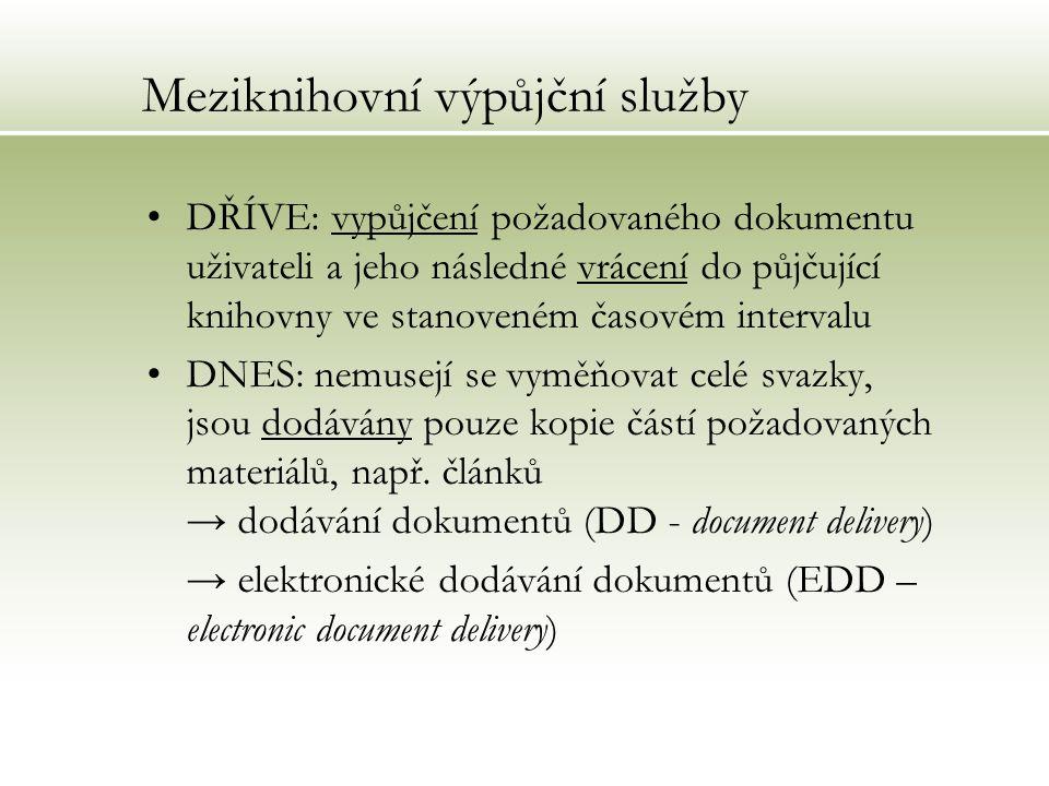 Cirkulační služby v rámci cirkulačních služeb půjčujeme časopisy těmto organizacím: Fakultní nemocnice Brno (Science) Masarykův onkologický ústav Brno (Science) AGRITEC Šumperk (Agra Focus)