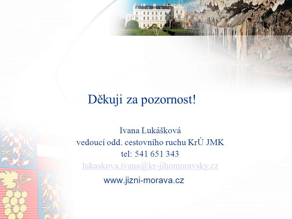 Děkuji za pozornost. Ivana Lukášková vedoucí odd.