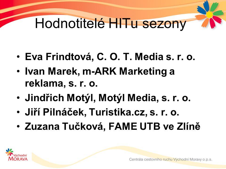 Hodnotitelé HITu sezony Eva Frindtová, C.O. T. Media s.
