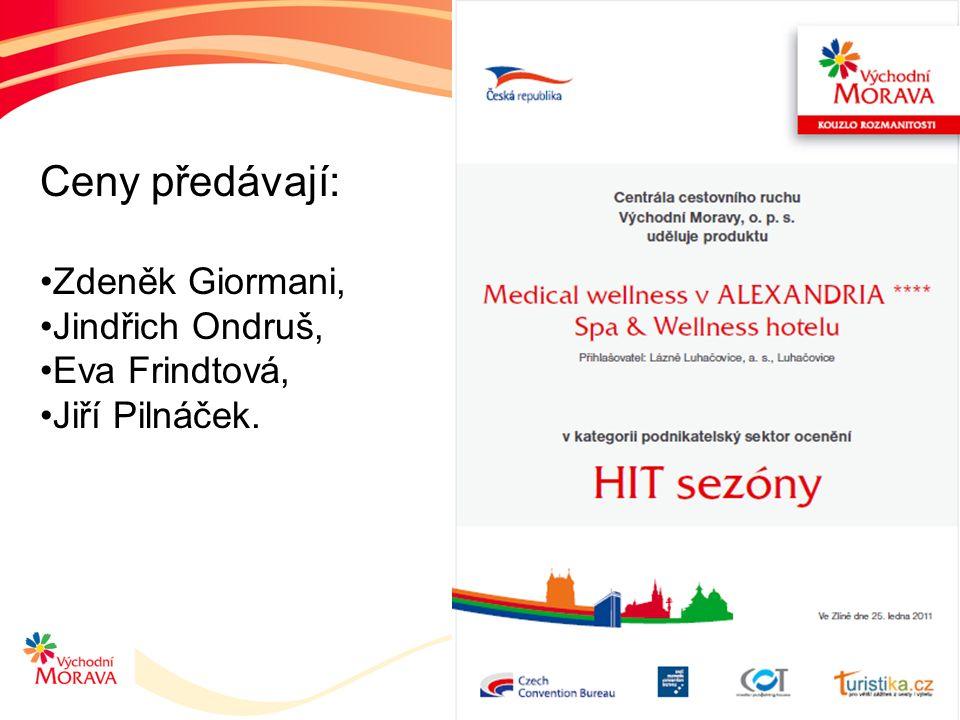 Ceny předávají: Zdeněk Giormani, Jindřich Ondruš, Eva Frindtová, Jiří Pilnáček.