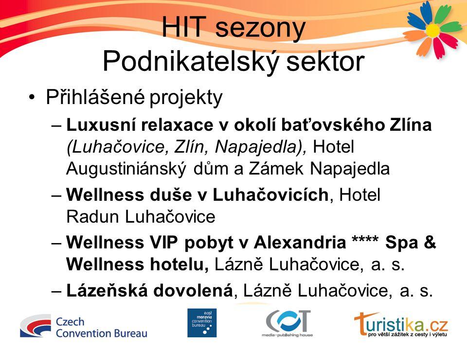 HIT sezony Podnikatelský sektor Přihlášené projekty –Luxusní relaxace v okolí baťovského Zlína (Luhačovice, Zlín, Napajedla), Hotel Augustiniánský dům