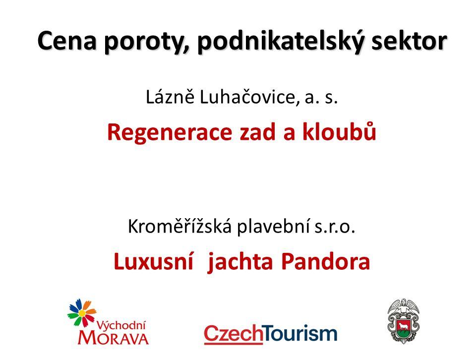 Cena poroty, podnikatelský sektor Lázně Luhačovice, a.