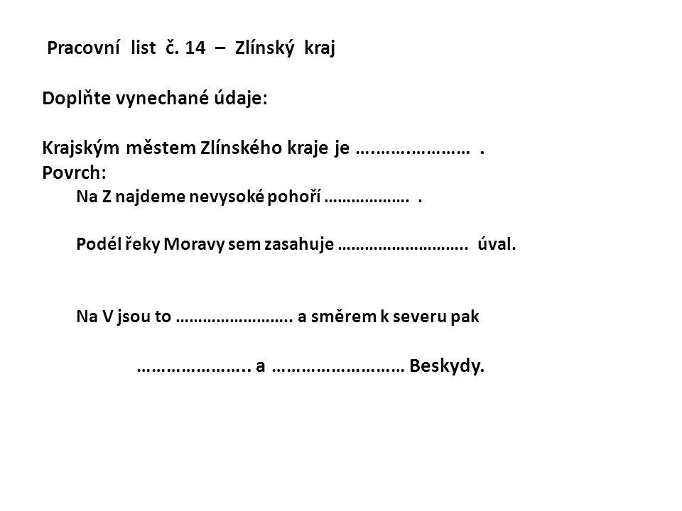 Pracovní list č.