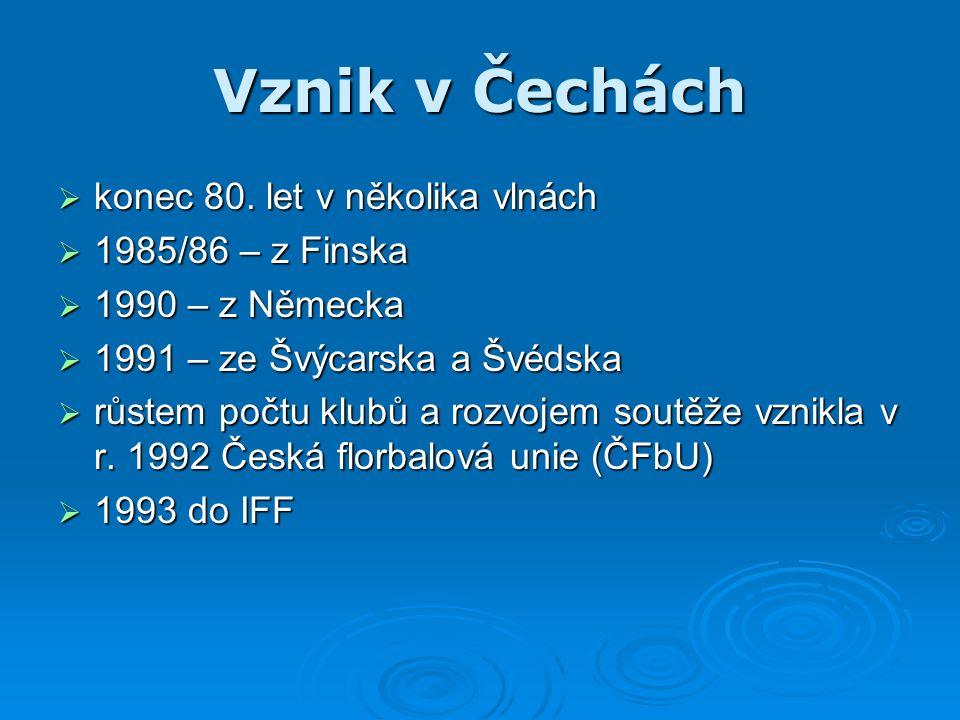 Vznik v Čechách  konec 80.