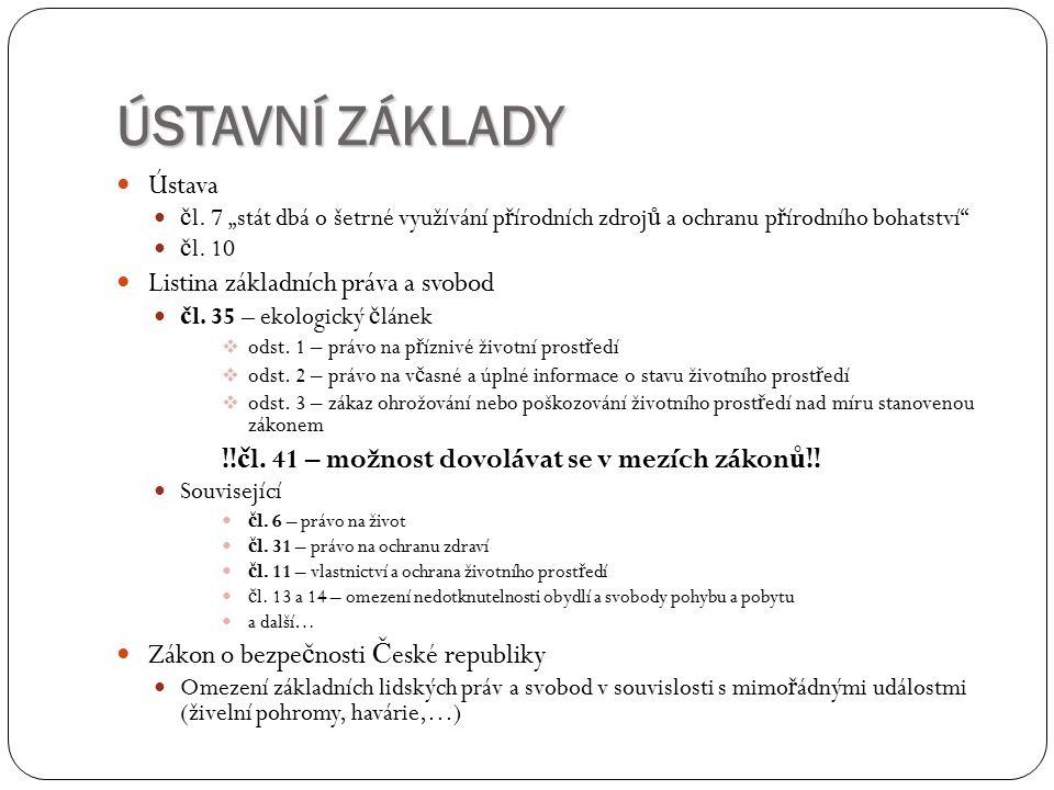 ÚSTAVNÍ ZÁKLADY Ústava č l.