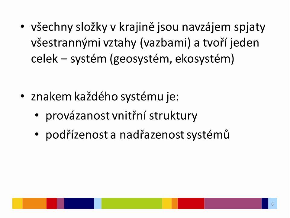 7 rozmístění krajin se řídí zákony geografické zonálnosti horizontální pásovitosti vertikální stupňovitosti