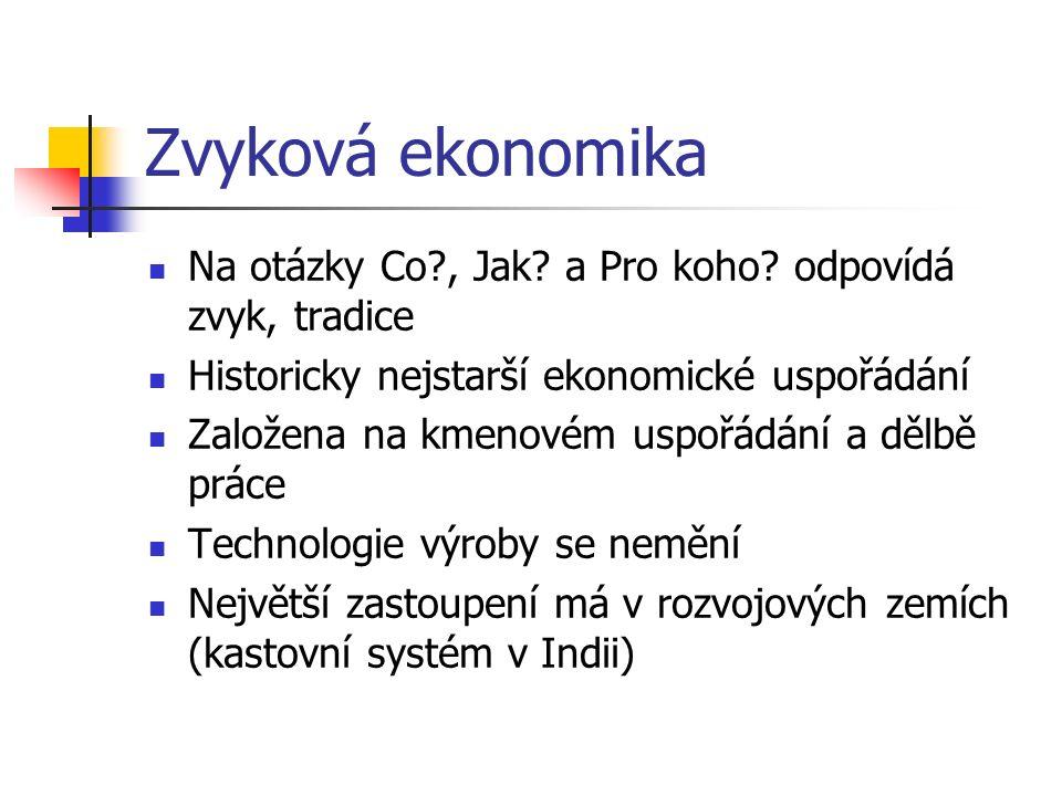 Příkazová ekonomika Na otázky Co?, Jak.a Pro koho.