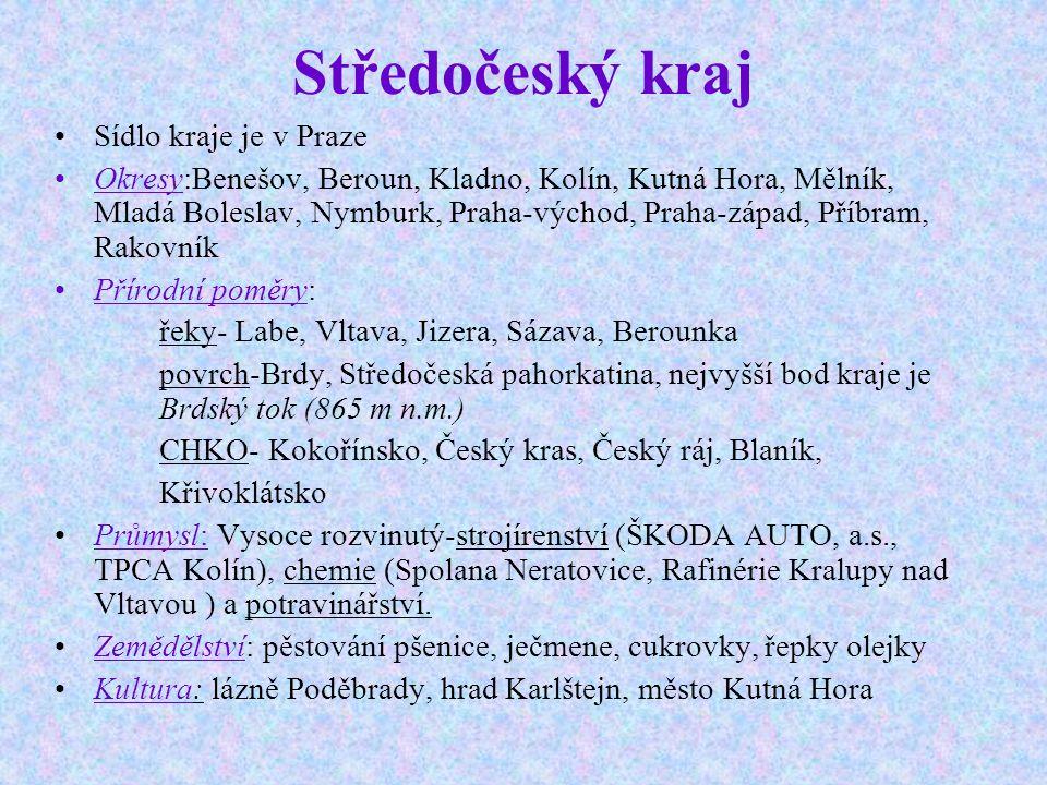 Doprava Úzká vazba s hlavním městem a hustá dopravní síť činí polohu kraje mimořádně výhodnou Středočeský kraj má kromě Prahy nejhustší, ale také nejpřetíženější dopravní síť v republice.