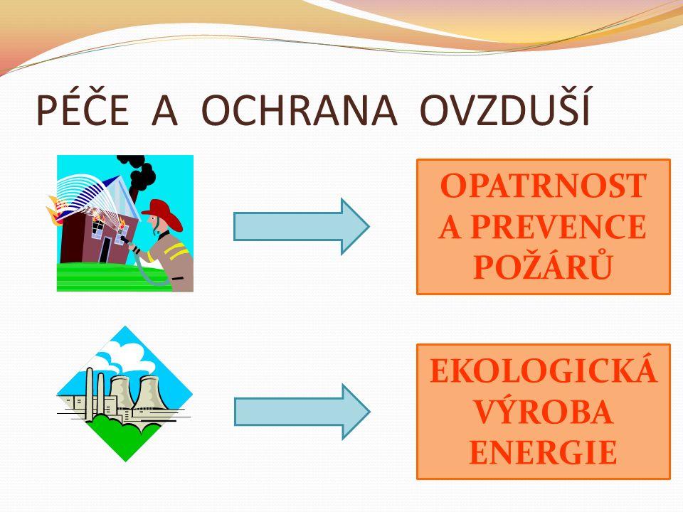 PÉČE A OCHRANA OVZDUŠÍ EKOLOGICKÁ VÝROBA ENERGIE OPATRNOST A PREVENCE POŽÁRŮ