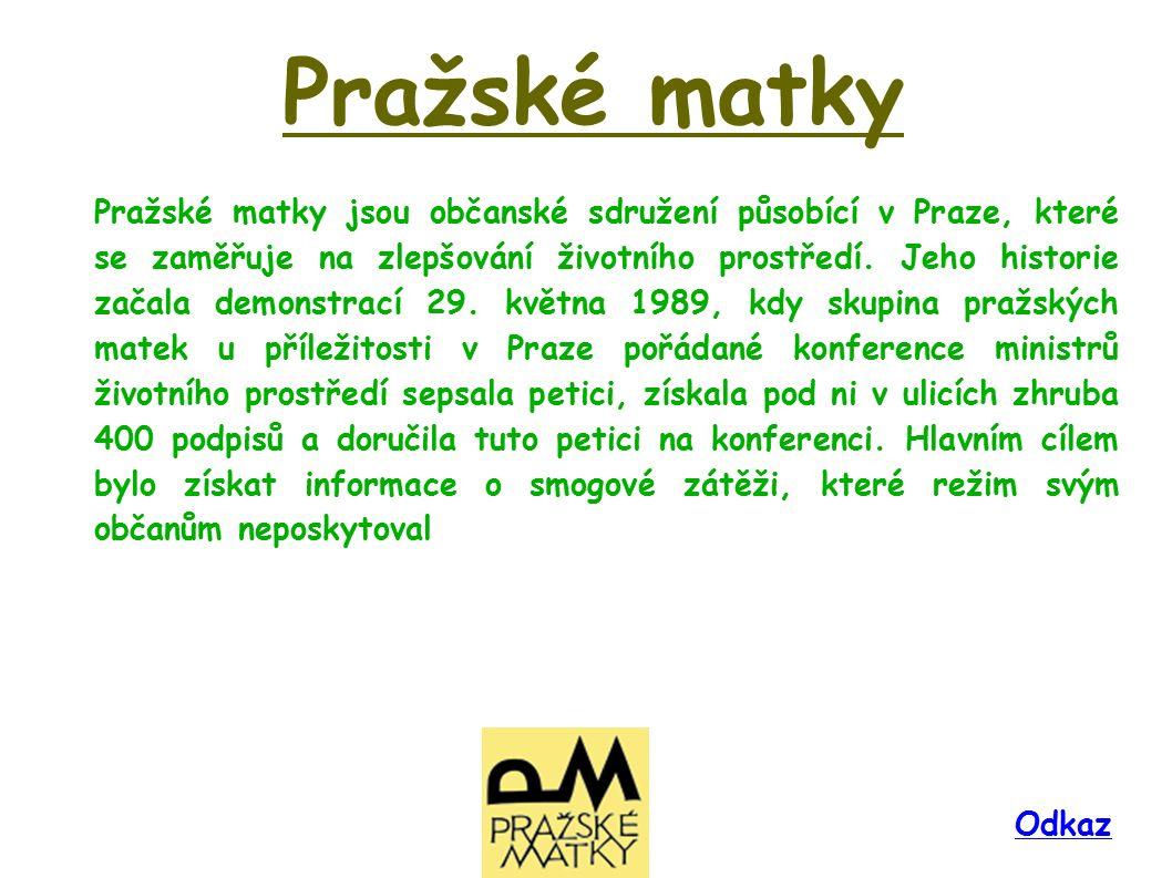 Pražské matky jsou občanské sdružení působící v Praze, které se zaměřuje na zlepšování životního prostředí.