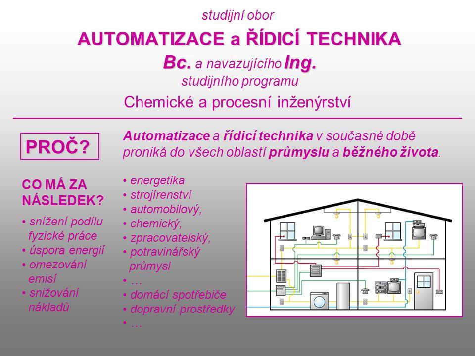 studijní obor AUTOMATIZACE a ŘÍDICÍ TECHNIKA Bc.Ing.