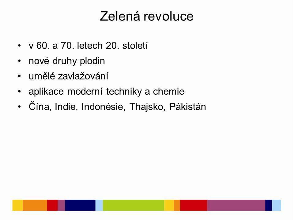 Zelená revoluce v 60. a 70. letech 20.
