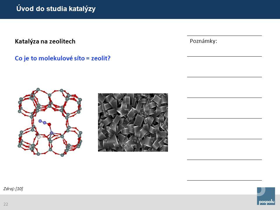 Katalýza na zeolitech Co je to molekulové síto = zeolit.